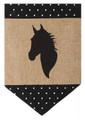 Burlap Horse Garden Flag
