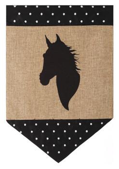 Burlap Horse Garden Flag. Price: $14.00. Image 1
