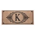 """Monogram """"K"""" Insert Mat"""