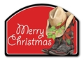 Cowboy Christmas Yard Design