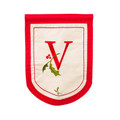 "Holiday Monogram ""V"" Garden Flag"