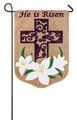 Easter Lily Garden Burlap Flag