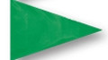 Fluorescent Green Vinyl Bike Flag