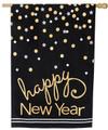 Burlap Happy New Year