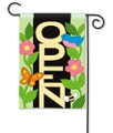 Blue Bird Open Applique Garden Flag