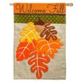 Fall Leaves Burlap Banner
