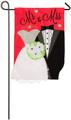 Mr. & Mrs. Wedding Sweethearts Garden Flag