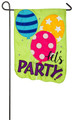 Let's Party Balloons Garden Flag