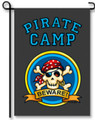 Pirate Camp Garden Flag