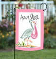 Its A Girl Garden Flag