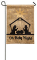 Oh Holy Night Burlap Garden Flag