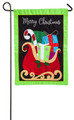 Gifts On Christmas Sleigh Garden Flag