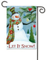 Let It Snow Snowman  Garden Flag