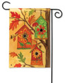 Fall Birdhouses Garden Flag