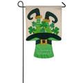 Leprechaun Welcome Garden Flag