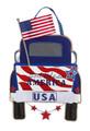 Patriotic Pick-Up Truck Burlap Door Decor