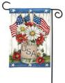 USA Mason Jar Garden Flag