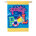 Pool Time Linen Banner