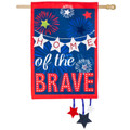 Home of the Brave Linen Banner