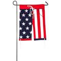 Americana Boardshorts Applique Garden Flag