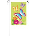 Butterflies Applique Garden Flag