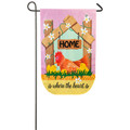 Home is Where the Heart is Burlap Gardn Flag