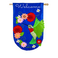 Hummingbird House Applique Banner