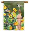 Chickadee Fence Post Banner