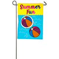 Beach Balls Applique Garden Flag