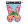 Butterfly Welcome Linen Banner