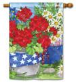Patriotic Floral Banner