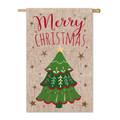 Merry Christmas Burlap Flag