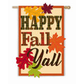 Happy Fall Y'all Linen Banner