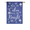 All Is Calm Linen Banner