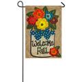 Welcome Fall Burlap Garden Flag