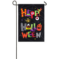 Happy Halloween Burlap Garden Flag