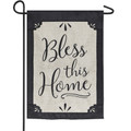 Bless This Home Burlap Garden Flag