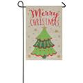 Merry Christmas Burlap Garden Flag