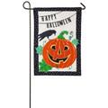 Jack-O-Lantern Night Linen Garden Flag