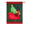 Merry Christmas Sleigh Banner