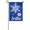 Let It Snow Applique Garden Flag