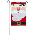 Santa Claus Applique Garden Flag