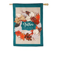 Autumn Leaves Wreath Burlap Banner