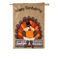 Thankful and Blessed Turkey Burlap Banner