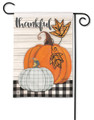 Plaid Pumpkin Garden Flag