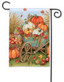 Pumpkin Wagon Garden Flag
