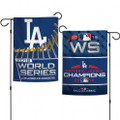 2- Sided National League Champions Los Angeles Dodgers Garden Flag