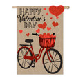 Valentine's Day Bicycle Burlap Banner