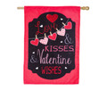 Love and Kisses Burlap Banner