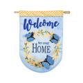 Forsythia Welcome Linen Banner